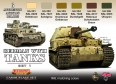 Série de peintures camouflages LifeColor CS01 GERMAN WWII TANKS SET1