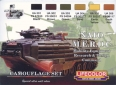 Série de peintures camouflages LifeColor CS02 NATO M.E.R.D.C Mobility Equipment Research and Design