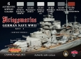 Série de peintures camouflages LifeColor CS09 GERMAN NAVY WWII SET1 Kriegsmarine