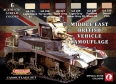 Série de peintures camouflages LifeColor CS16 MIDDLE EAST BRITISH VEHICLE CAMOUFLAGE