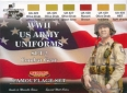 Série de peintures camouflages LifeColor CS18 WWII US ARMY UNIFORMS SET2 Combat Gear