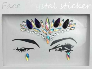 Face Crystal sticker Gem Jewelry LS1014