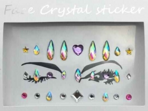 Face Crystal sticker Gem Jewelry LS1001