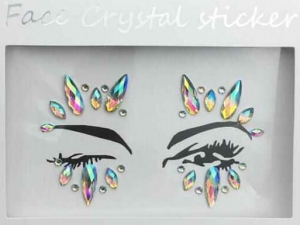 Face Crystal sticker Gem Jewelry LS1006
