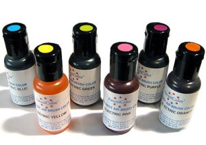 Série de 6 Airbrush Peintures Electric Ultra Bright Americolor AmeriMist (6x19ml)