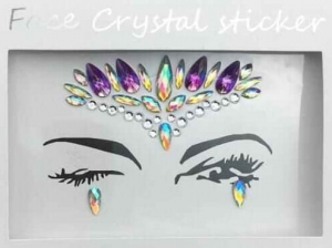 Face Crystal sticker Gem Jewelry LS1010