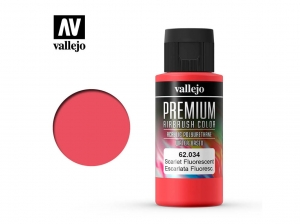 Vallejo PREMIUM Color 62034 Fluorescent Scarlet (60ml)