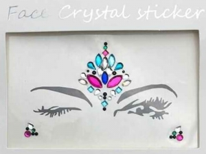 Face Crystal sticker Gem Jewelry LS1019